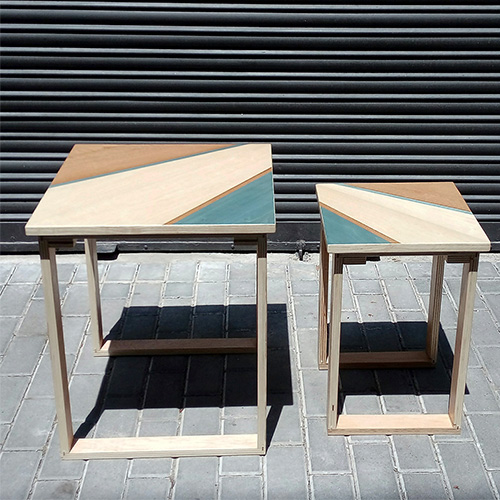 Two custom-designed tables