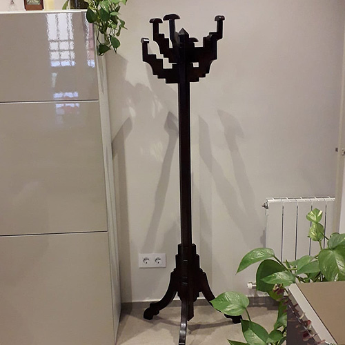 Designer coat rack restoration